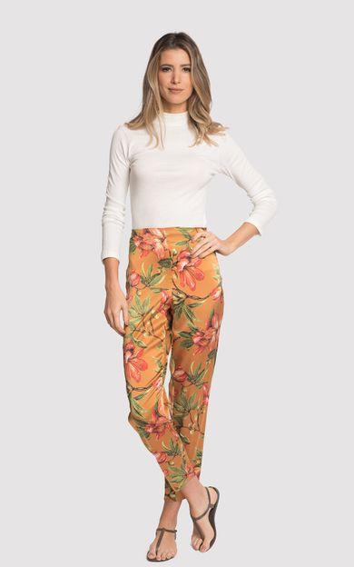 calca-alta-seda-estampada-flora-ocre-tamanho-38-Frente