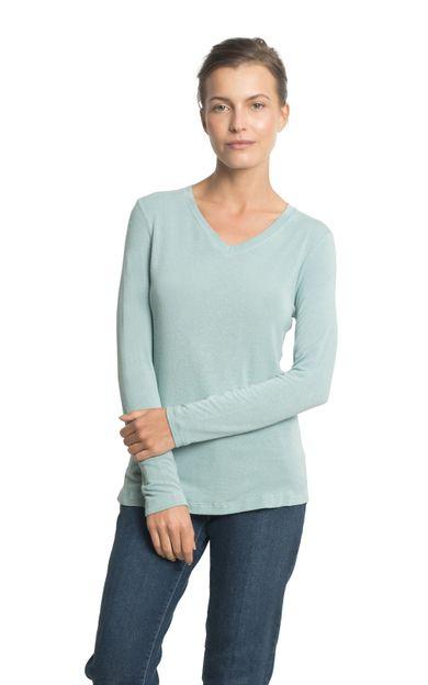 blusa-manga-gola-v-azul-ceu-tamanho-PP-Frente1