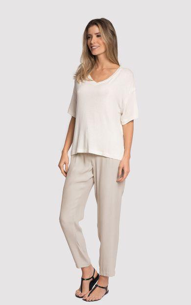 blusa-gola-v-detalhe-off-white-tamanho-P-Frente