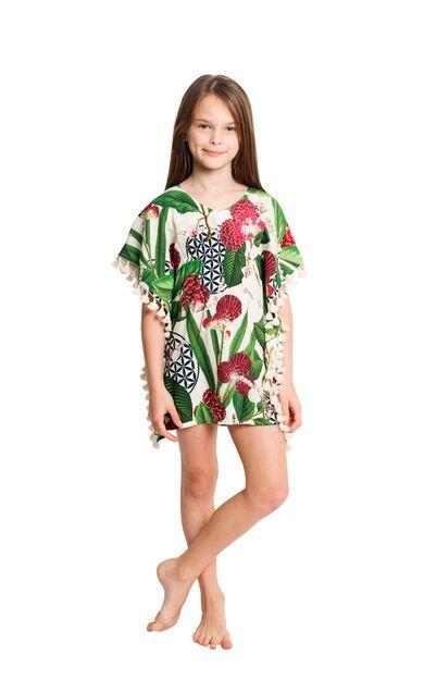 kaftan-infantil-franjas-fidji-floral-tamanho-2-Frente