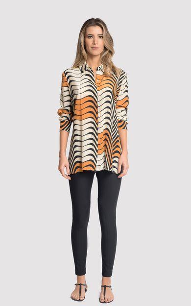 camisa-classico-seda-estampado-antilope-tamanho-PP-Frente