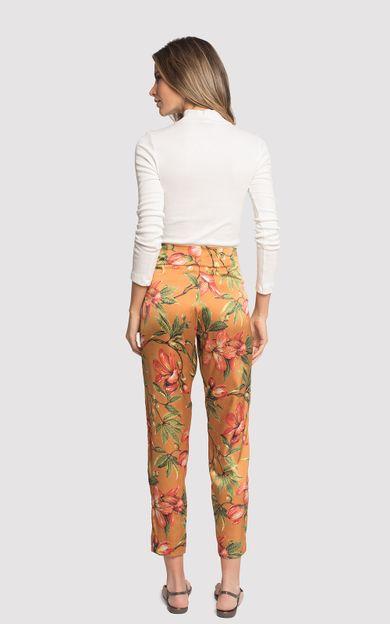 calca-alta-seda-estampada-flora-ocre-tamanho-38-Costas
