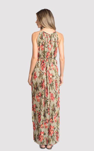 vestido-longo-plissado-classic-flora-tamanho-M-Costas