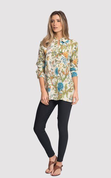 camisa-classico-seda-estampado-greenhouse-tamanho-PP-Frente
