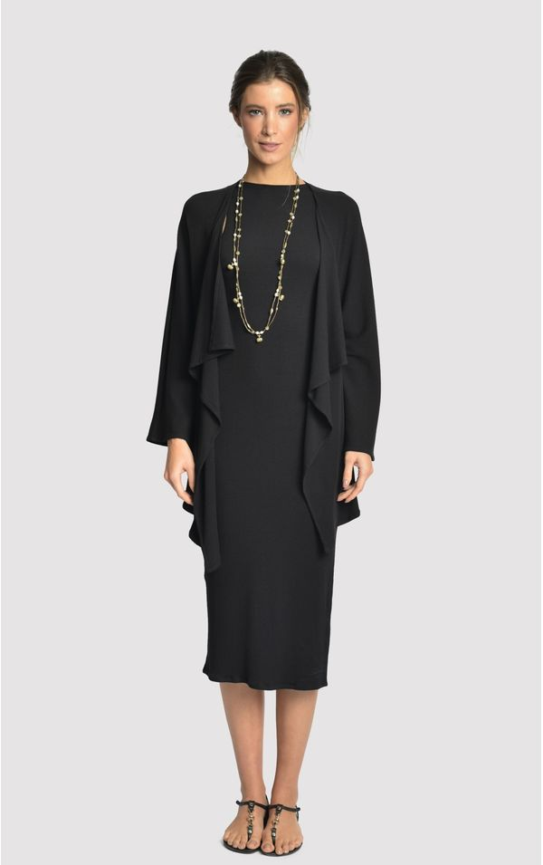 vestido-quimono-rib-preto-tamanho-P-Frente