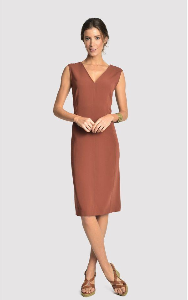 vestido-classico-tri-terra-tamanho-PP-Frente