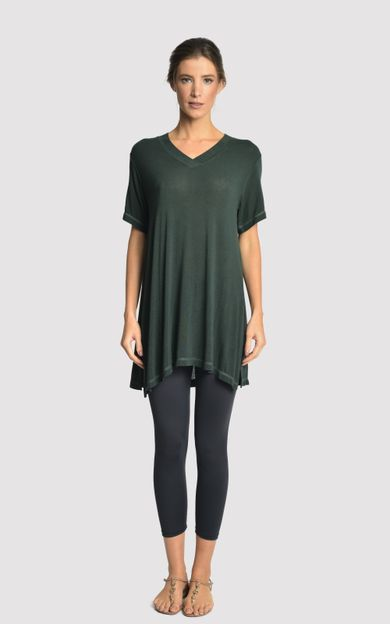 blusa-malha-fenda-lateral-atlantic-tamanho-PP-Frente