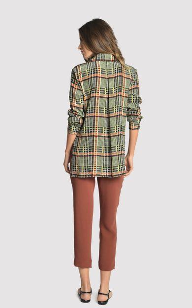camisa-classica-seda-estampada-xadrez-tamanho-PP-Costas