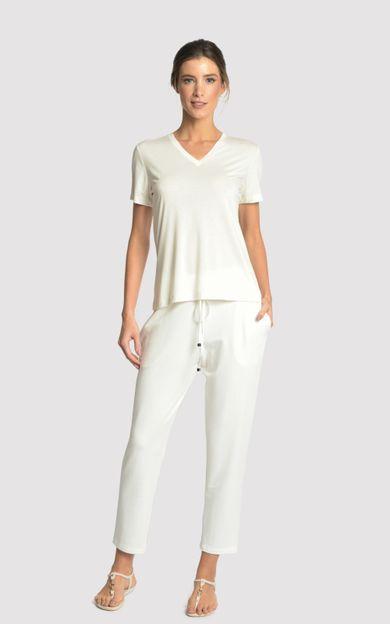 blusa-gola-v-modal-off-white-tamanho-M-Frente