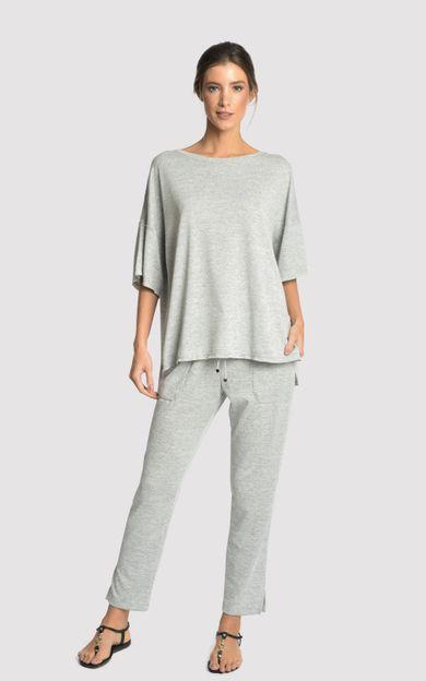 blusa-malha-detalhe-a-fio-mescla-tamanho-G-Frente