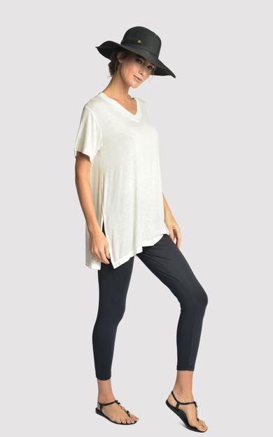 blusa-malha-fenda-lateral-off-white-tamanho-P-Frente