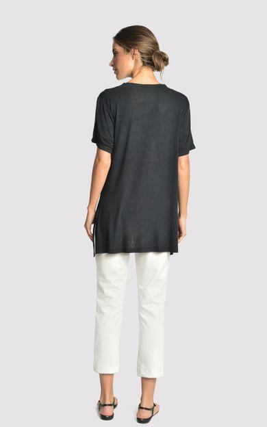 blusa-malha-fenda-lateral-preto-tamanho-PP-Costas
