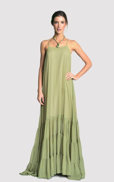 vestido-seda-longo-babados-verde-cana-tamanho-P-Frente