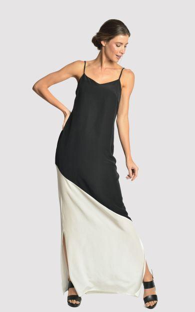 vestido-longo-bicolor-preto-offwhite-tamanho-PP-Frente