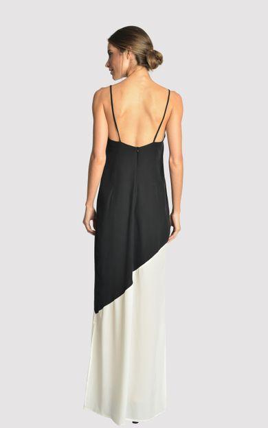 vestido-longo-bicolor-preto-offwhite-tamanho-PP-Costas