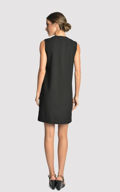 vestido-crepe-bicolor-preto-offwhite-tamanho-G-Costas