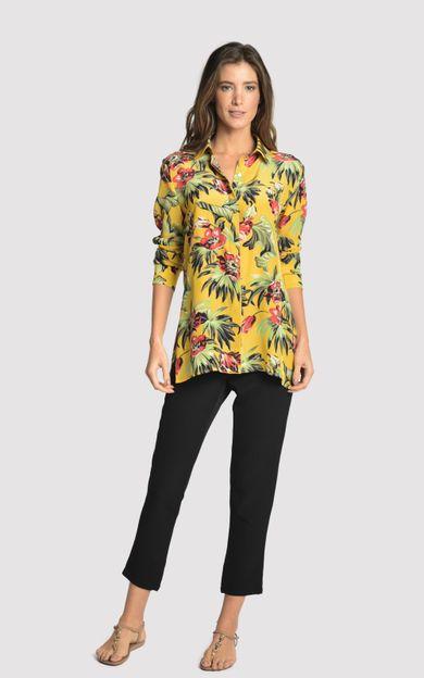 camisa-classica-seda-estampada-tropical-tamanho-P-Frente
