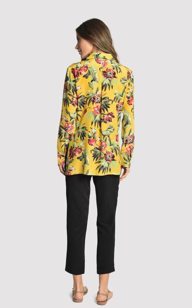 camisa-classica-seda-estampada-tropical-tamanho-P-Costas
