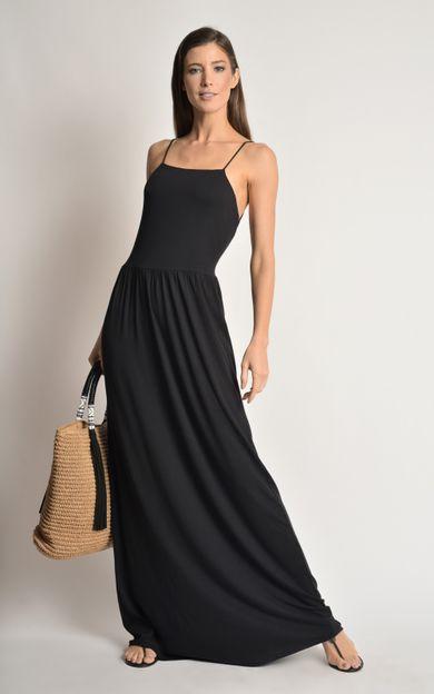 vestido-malha-decote-costas-preto-tamanho-P-Frente