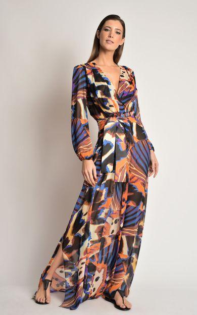 vestido-longo-pregas-panapana-laranja-tamanho-PP-Frente