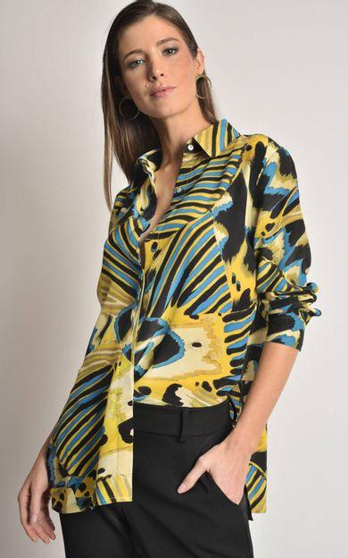 camisa-classica-seda-estampada-panapana-tamanho-M-Frente