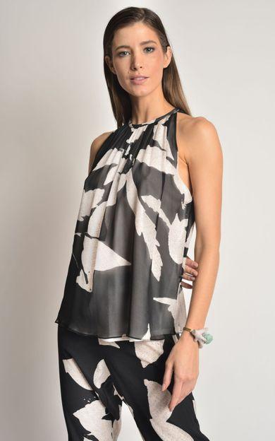 blusa-seda-franzida-folhas-tamanho-P-Frente