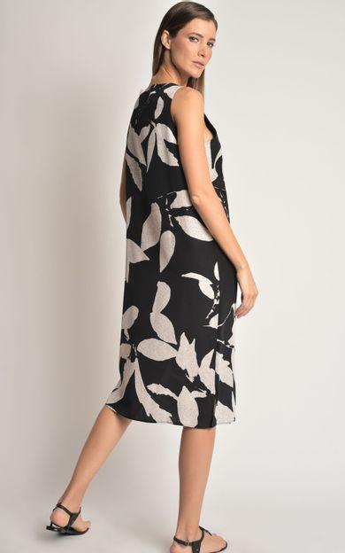 vestido-seda-classico-folhas-tamanho-PP-Costas