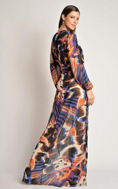 vestido-longo-pregas-panapana-laranja-tamanho-PP-Costas