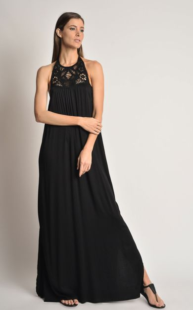 vestido-pala-bordada-preto-tamanho-P-Frente