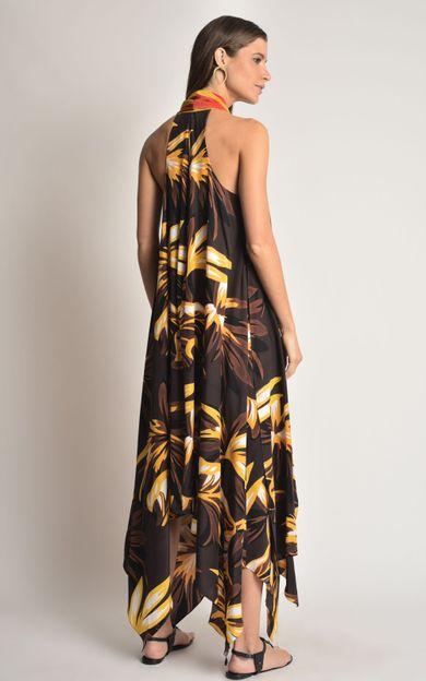 vestido-seda-faixa-folhagem-marrom-tamanho-P-Costas