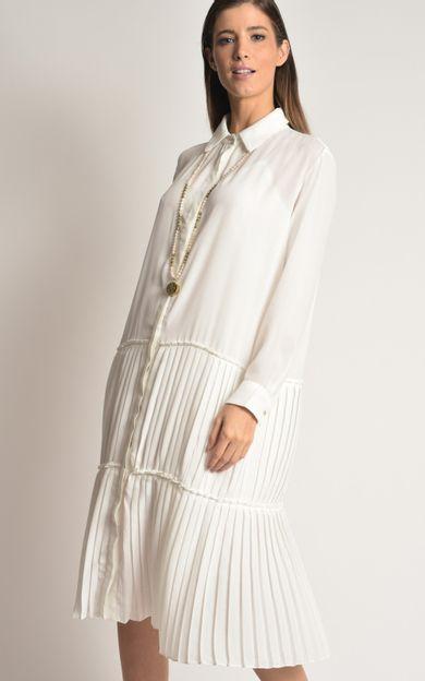 vestido-shirt-plissado-off-white-tamanho-PP-Frente
