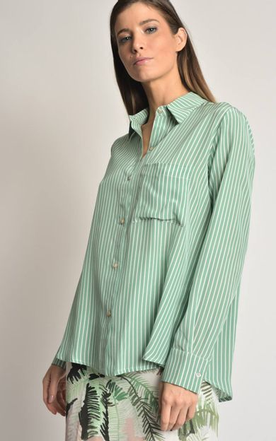 camisa-seda-punho-amarracao-listra-verde-tamanho-PP-Frente