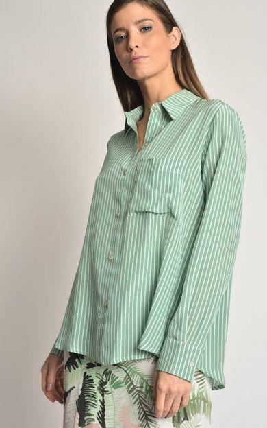 camisa-seda-punho-amarracao-listra-verde-tamanho-M-Frente