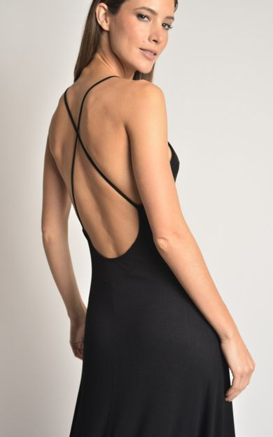 vestido-longi-rib-preto-tamanho-P-Frente