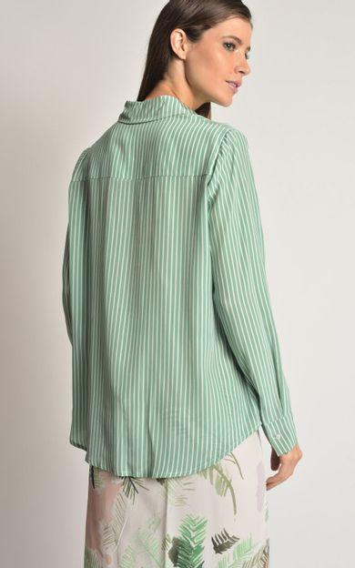 camisa-seda-punho-amarracao-listra-verde-tamanho-PP-Costas