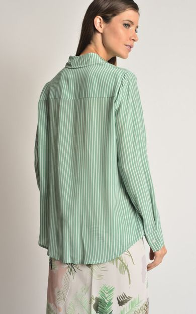 camisa-seda-punho-amarracao-listra-verde-tamanho-M-Costas