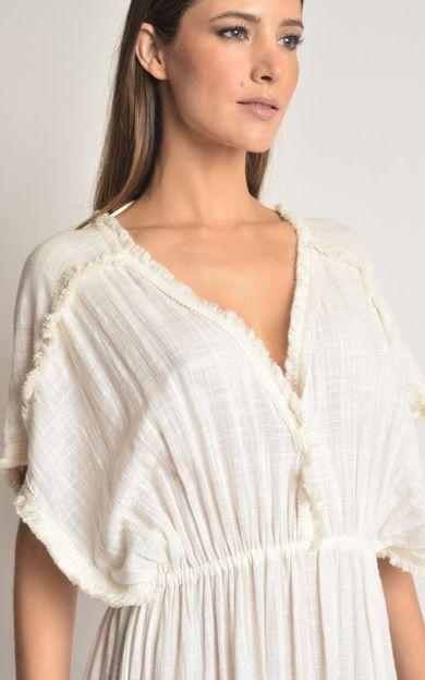 vestido-detalhe-franjas-off-white-tamanho-PP-Costas