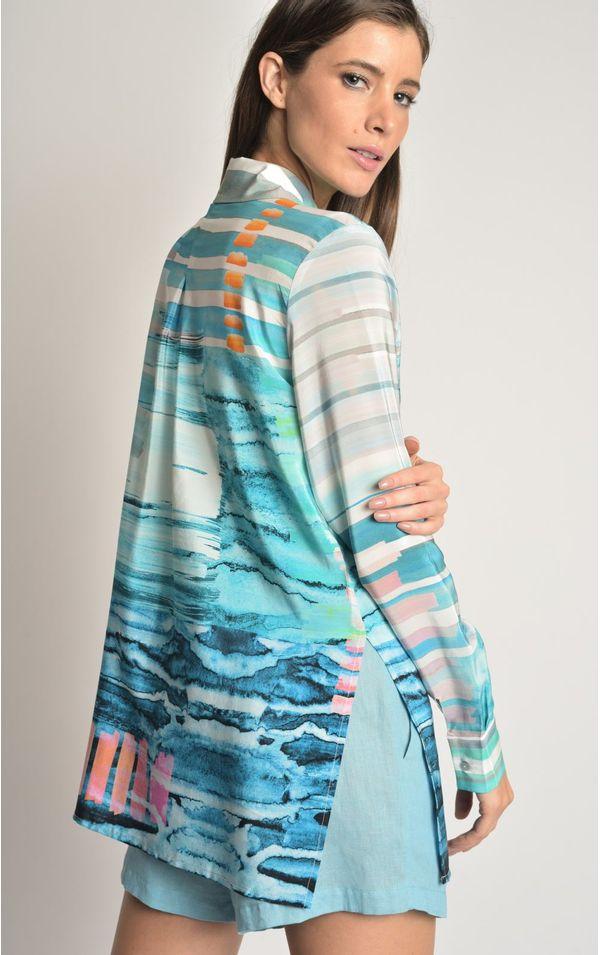 camisa-classica-seda-estampada-bonito-tamanho-PP-Frente