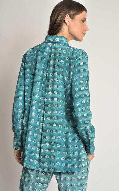 camisa-classica-seda-estampada-aqua-tamanho-G-Costas