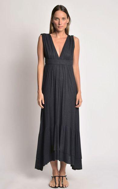 vestido-assimetrico-babados-preto-tamanho-PP-Frente