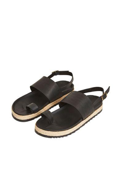 sandalia-tira-dedo-preto-tamanho-35-Frente