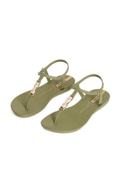 sandalia-bambu-verde-tamanho-34-Frente