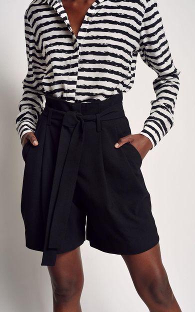 short-cintura-alta-faixa-preto-tamanho-36-Costas