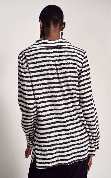 camisa-classica-seda-estampada-listra-tear-tamanho-P-Costas