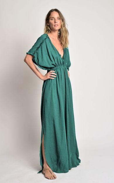 vestido-detalhe-franjas-capri-tamanho-G-Frente