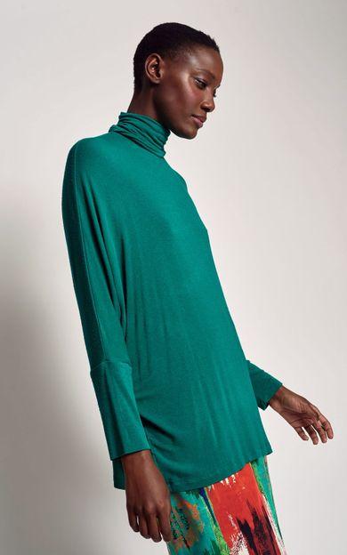 blusa-ampla-gola-alta-capri-tamanho-PP-Frente