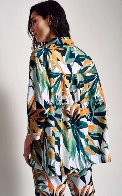 camisa-linho-estampa-bromelia-tamanho-M-Costas