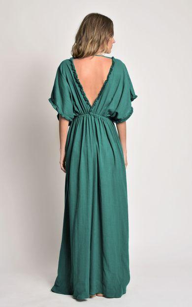 vestido-detalhe-franjas-capri-tamanho-G-Costas
