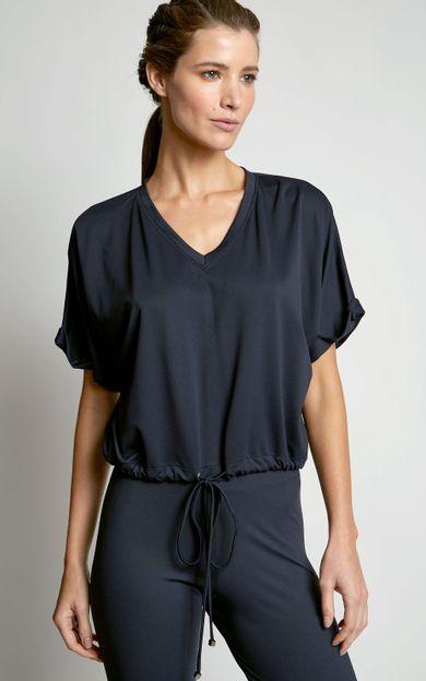 blusa-franzida-fitness-preto-tamanho-PP-Frente