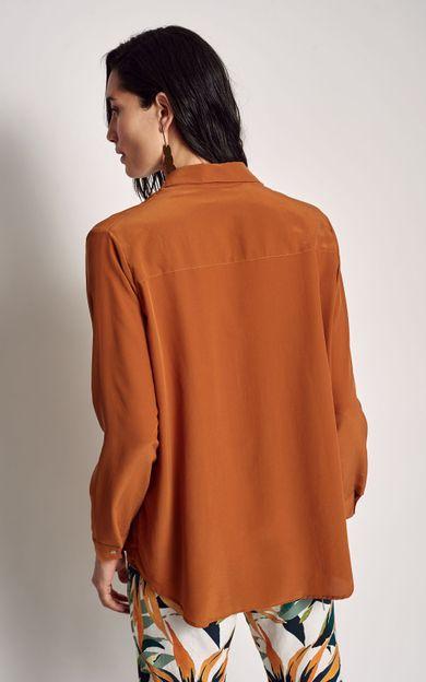 camisa-classica-lisa-cobre-tamanho-P-Costas